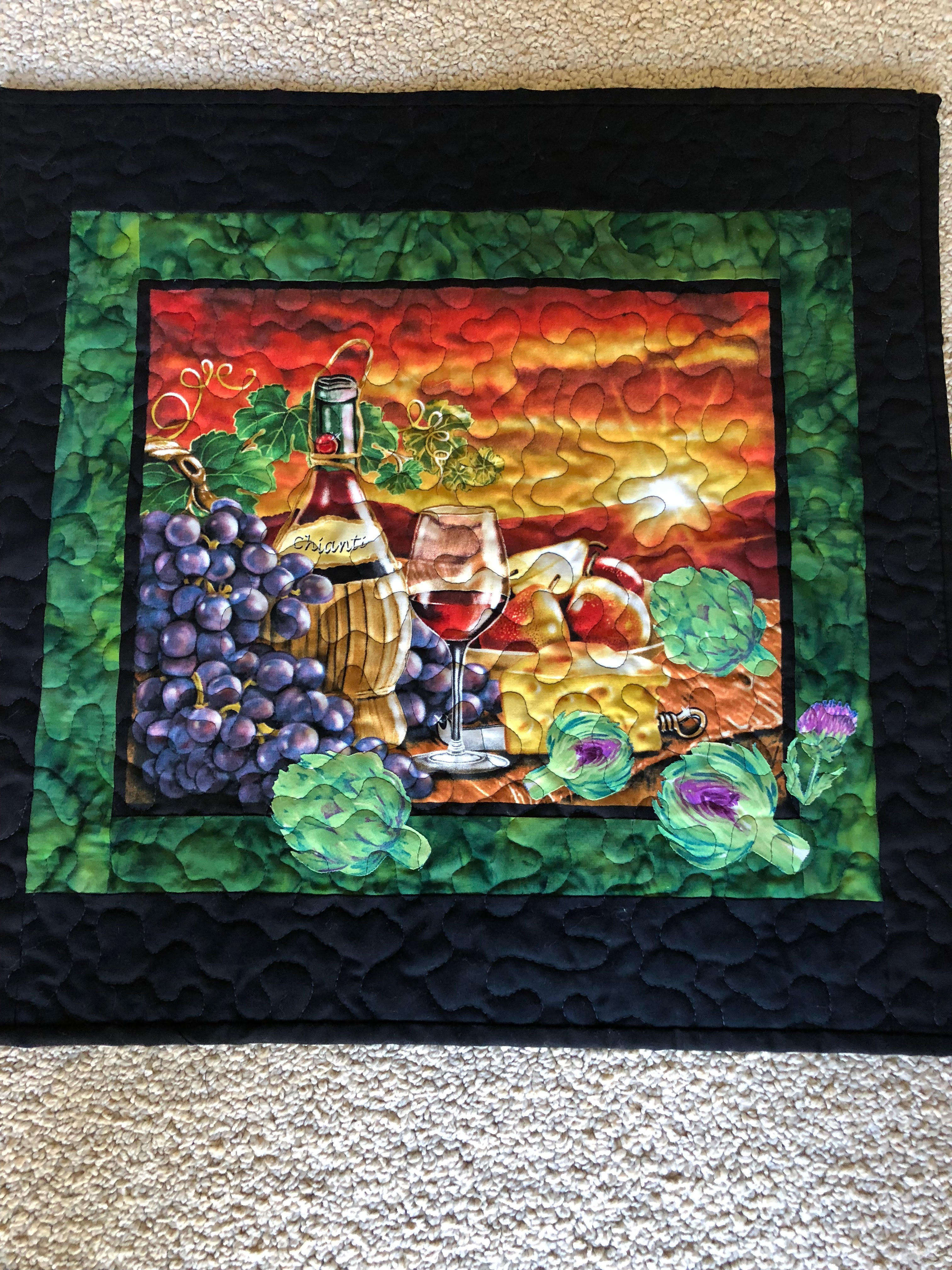 Artichoke festival quilt challenge 2nd place winner