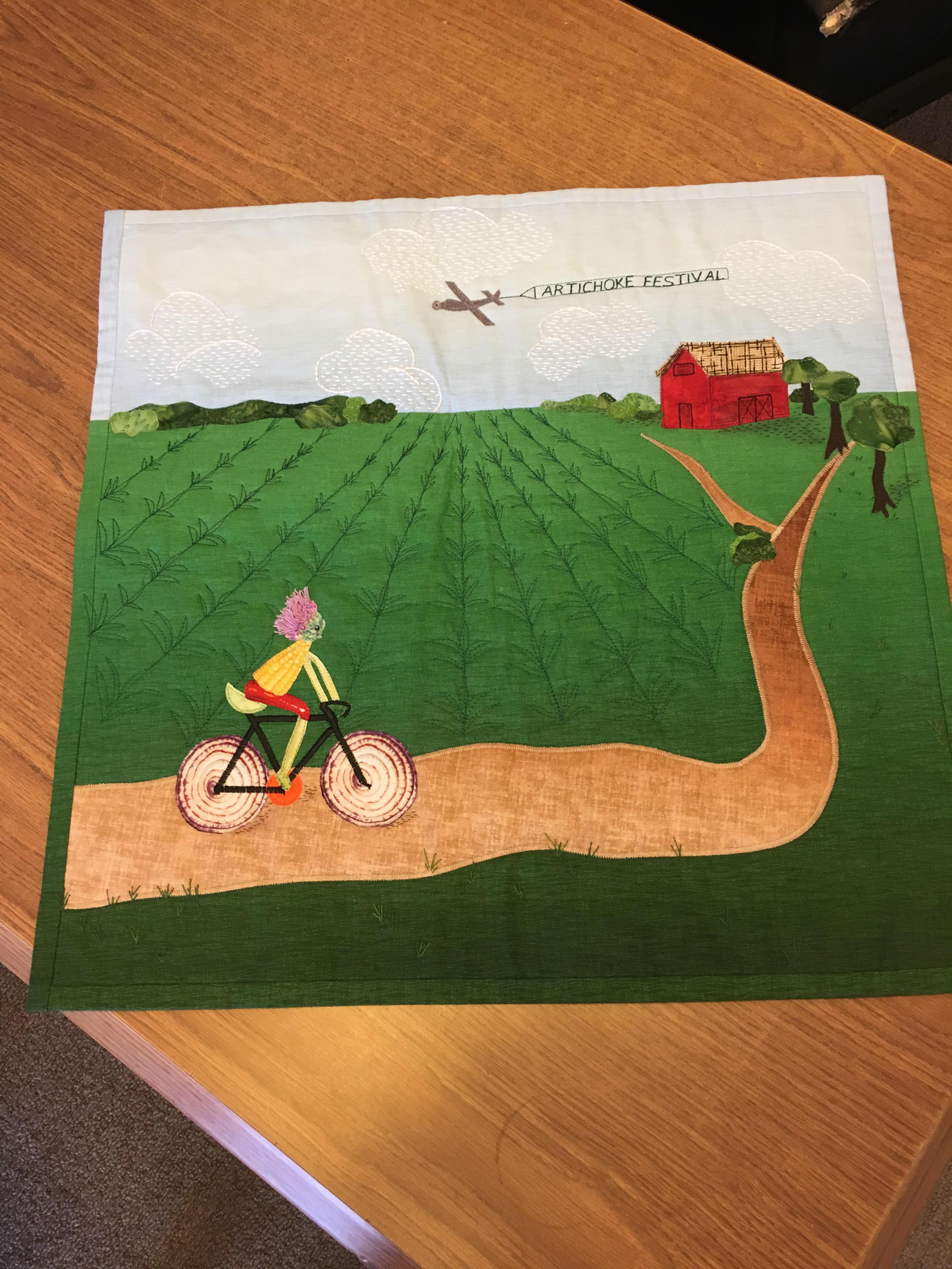 Artichoke festival quilt challenge 3rd winner