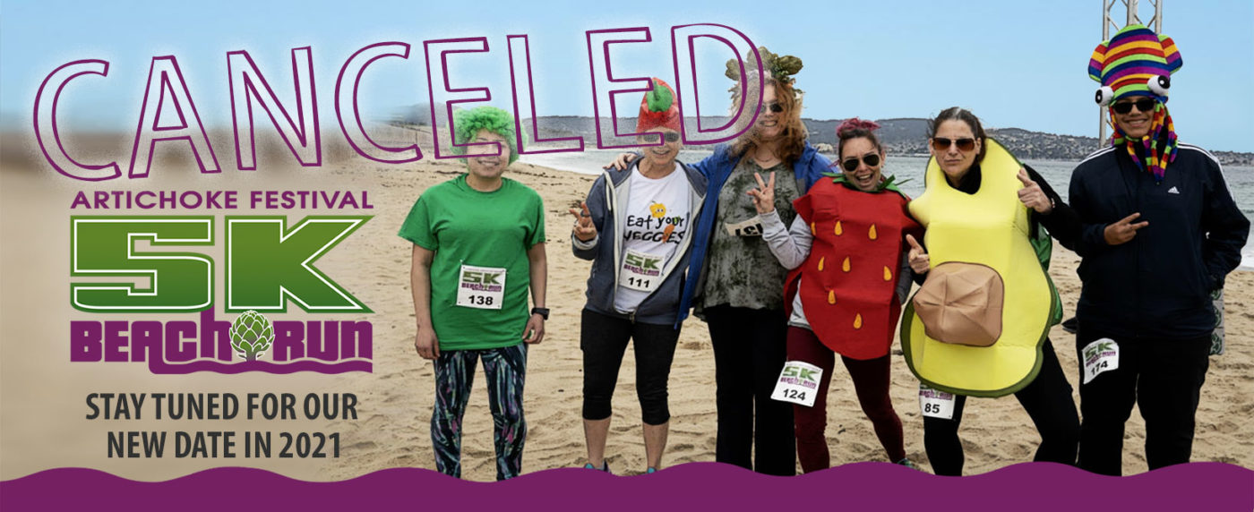 Artichoke Festival 5K Beach Run Cancelled banner