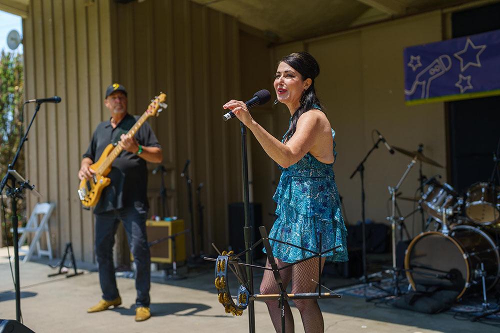Sasha's Money Band performing at the Artichoke Festival