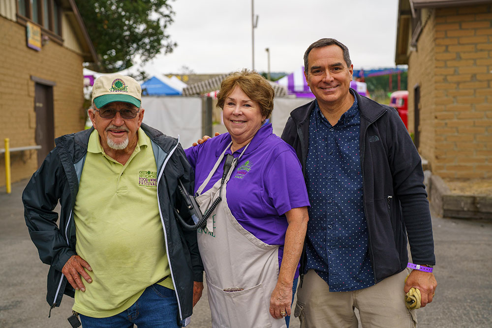 Artichoke Festival attendees and staff