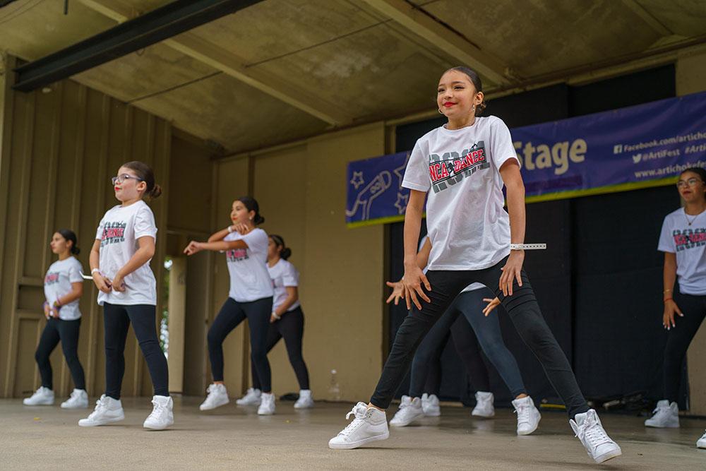 NCA Dance performing at the Artichoke Festival
