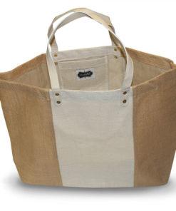 Tan/Cream Burlap Tote Bag - Accessories