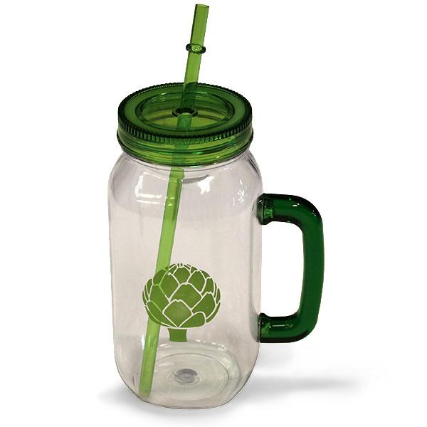 Mason Jar Drinking Glass with Straw - Miscellaneous